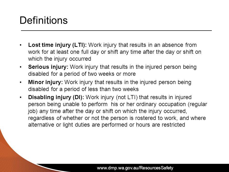 www.dmp.wa.gov.au/ResourcesSafety Nature of injury