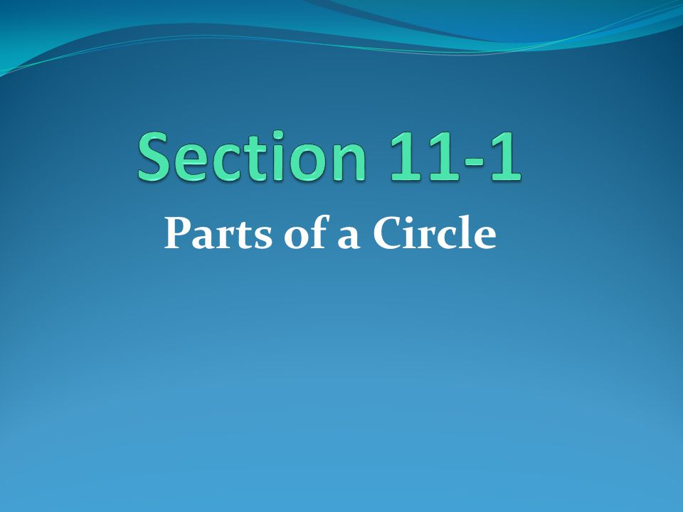 Circle A circle is the set of all points in a plane that are a given distance from a given point in the plane, called the center of the circle.