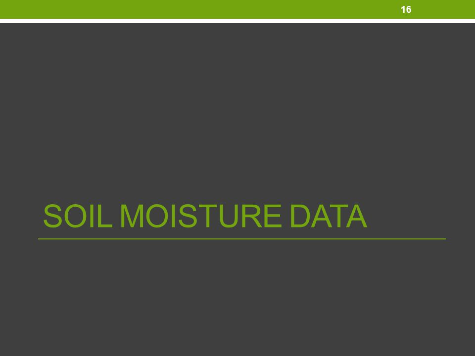 SOIL MOISTURE DATA 16