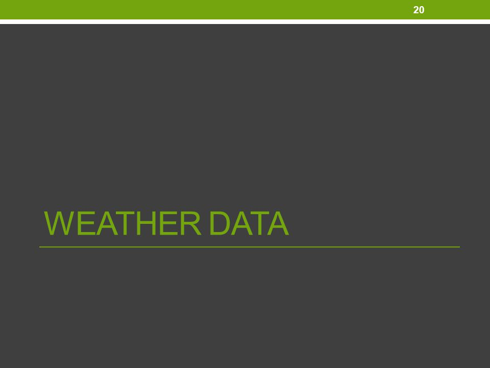 WEATHER DATA 20
