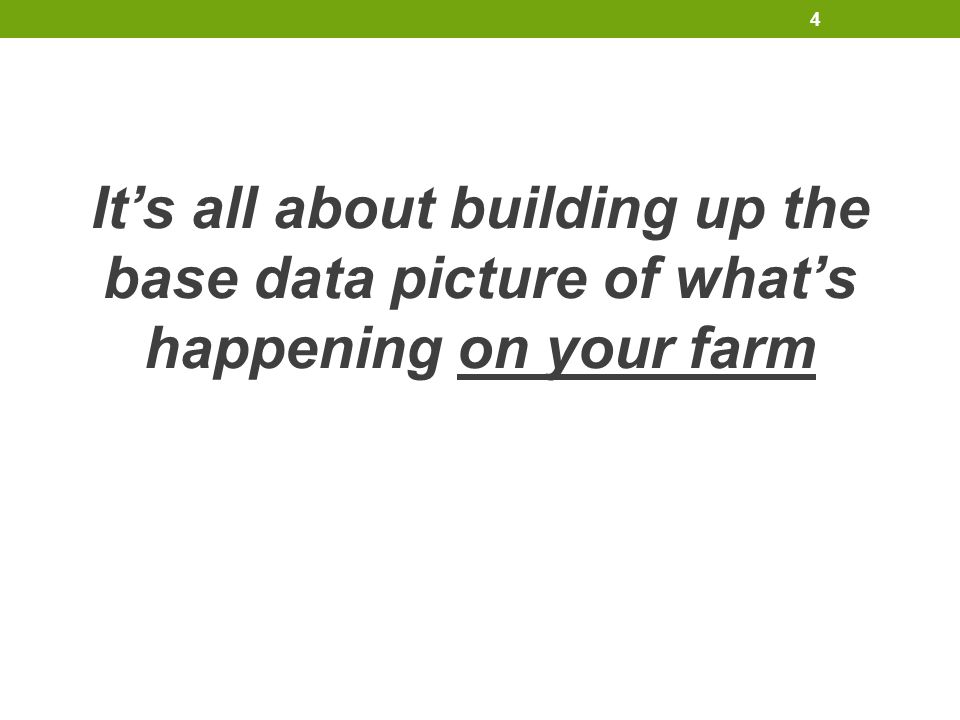 It's all about building up the base data picture of what's happening on your farm 4