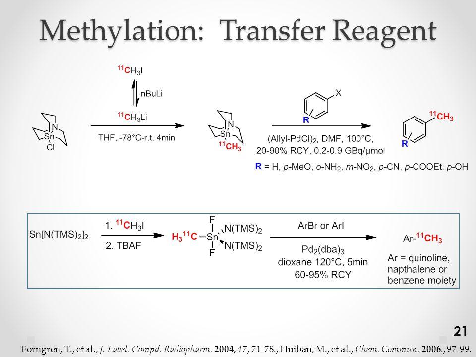 Methylation: Transfer Reagent 21 Forngren, T., et al., J.
