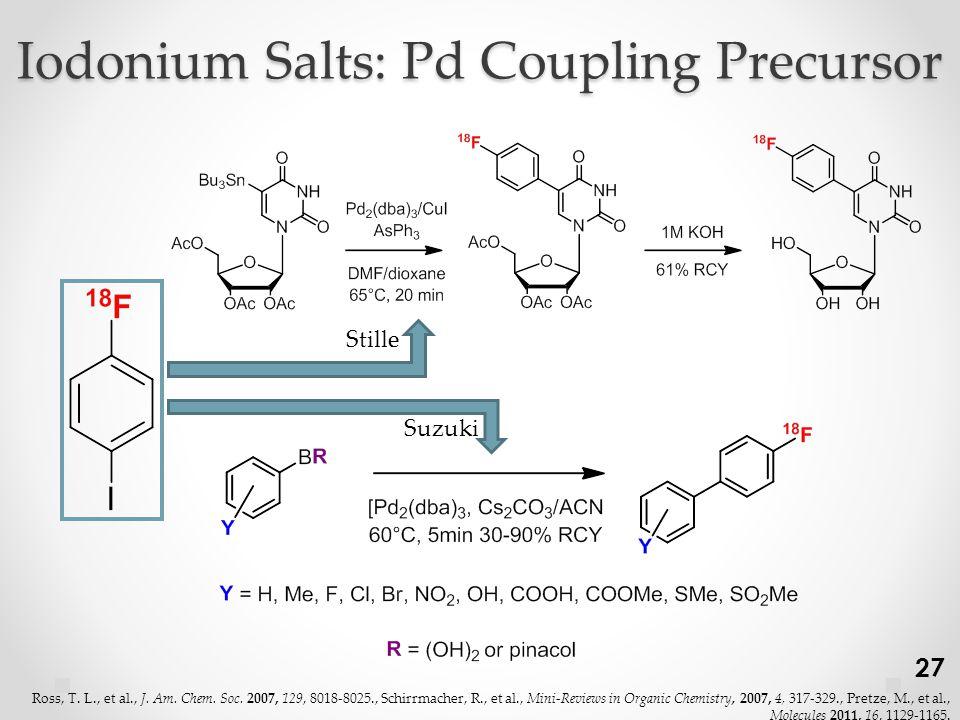 Iodonium Salts: Pd Coupling Precursor Stille Suzuki 27 Ross, T.