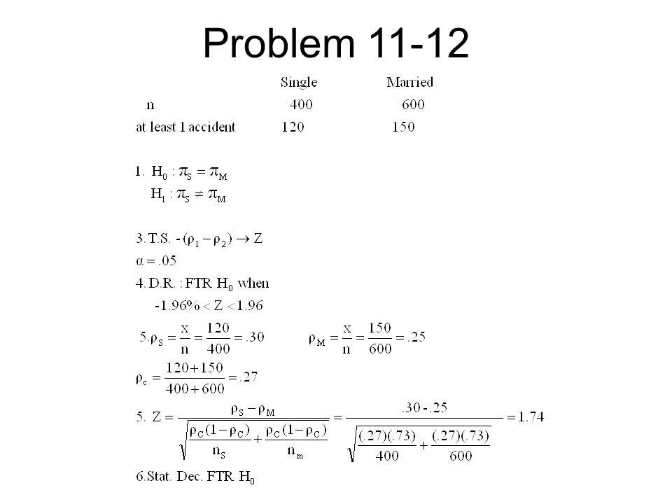 Problem 11-12