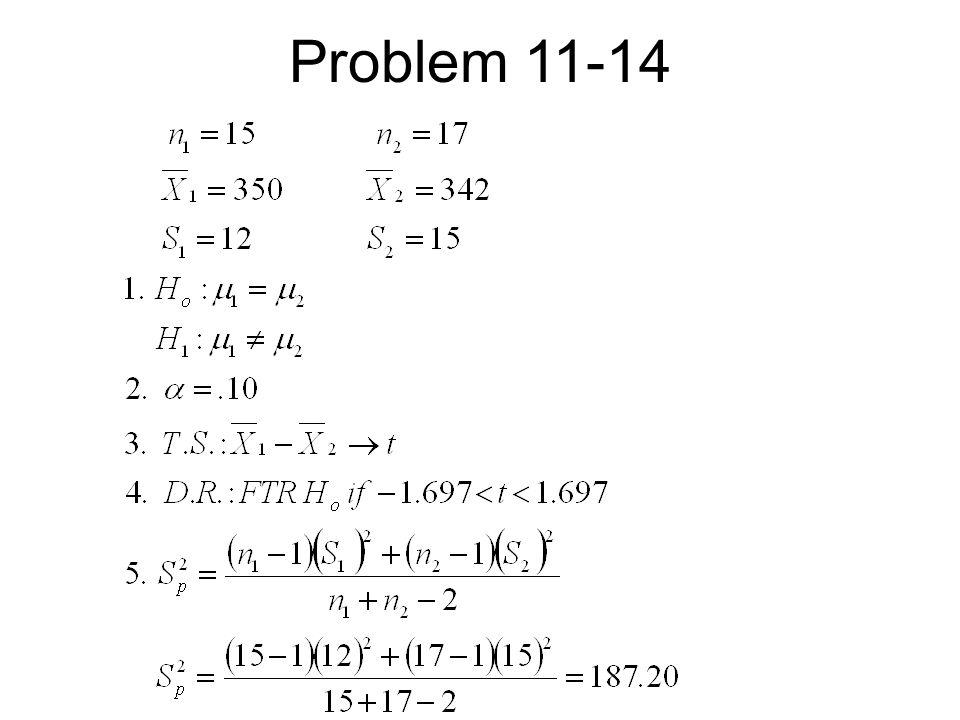 Problem 11-14