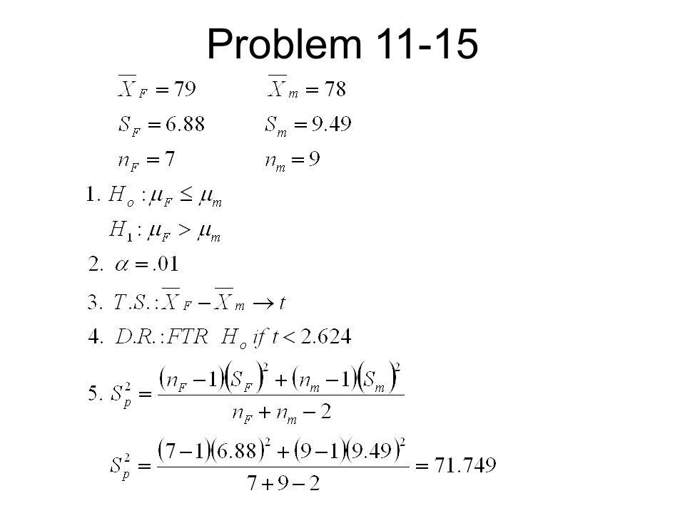 Problem 11-15