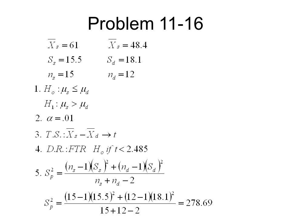 Problem 11-16