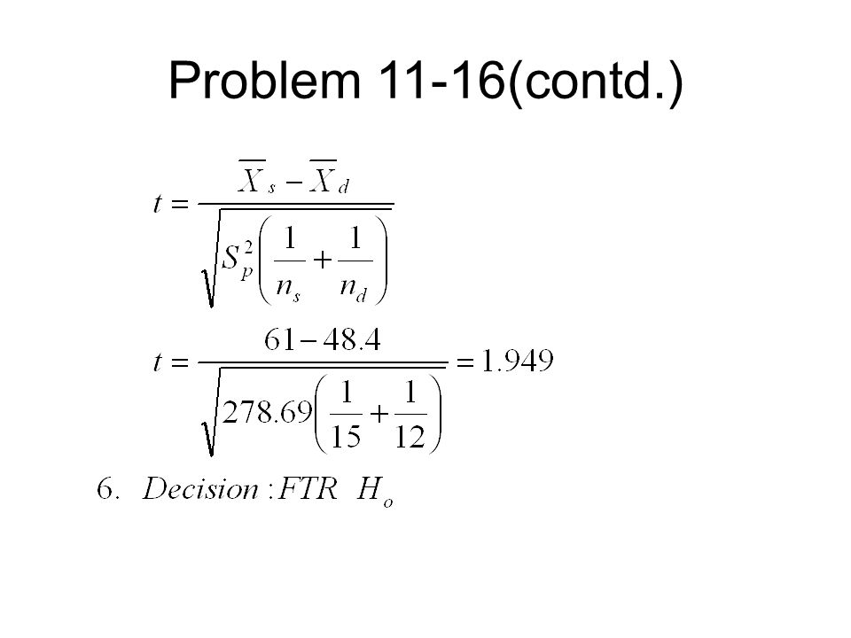 Problem 11-16(contd.)