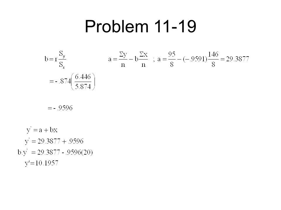 Problem 11-19