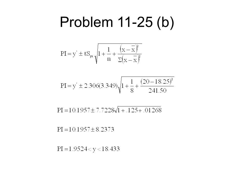 Problem 11-25 (b)