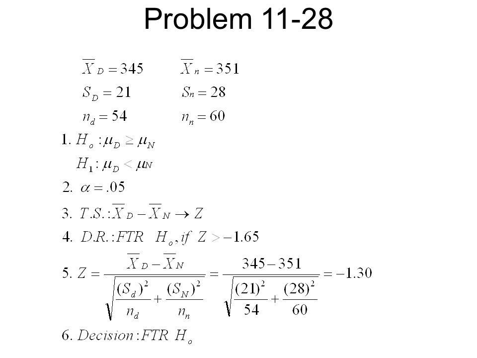 Problem 11-28