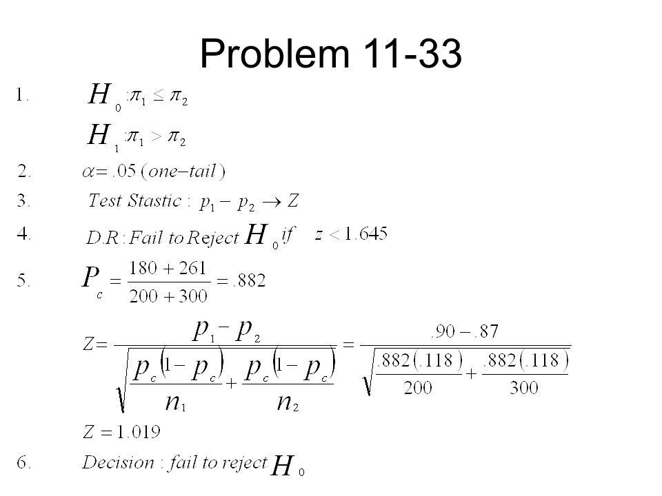 Problem 11-33
