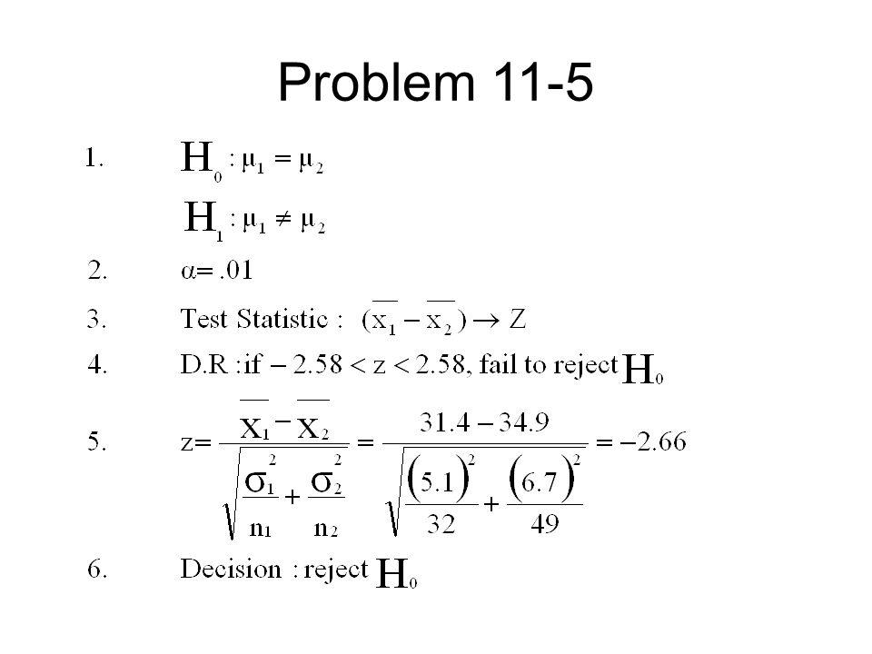 Problem 11-5