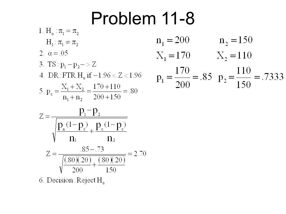 Problem 11-8