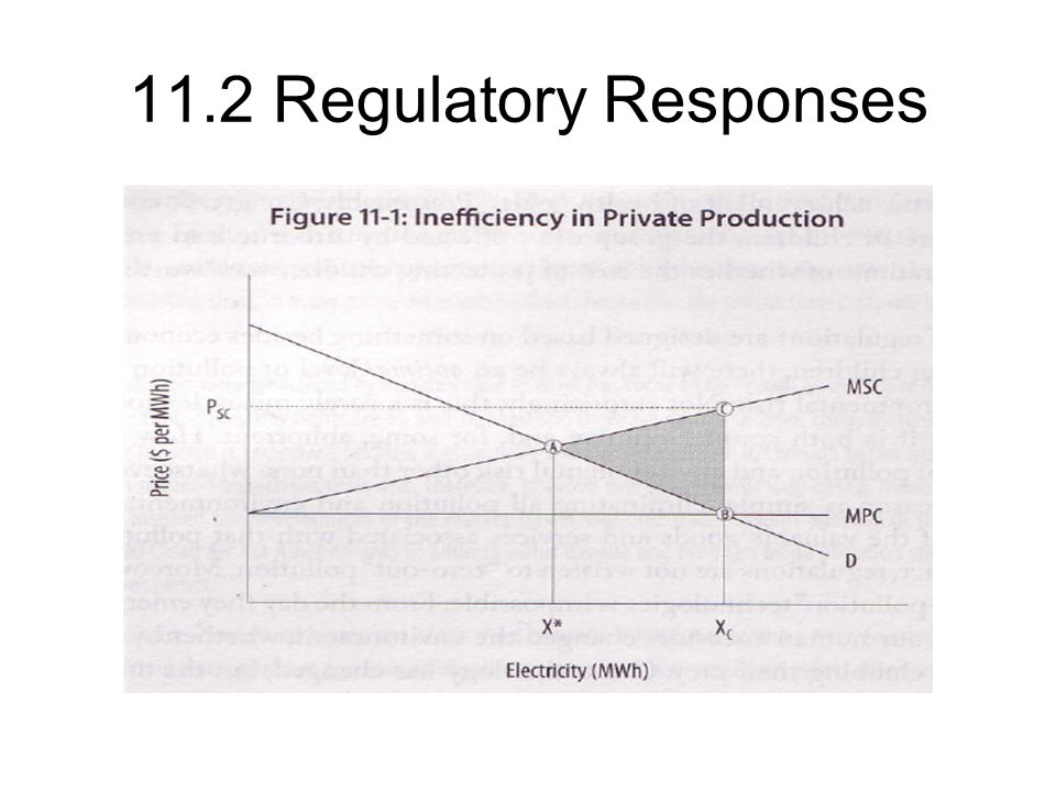 11.2 Regulatory Responses