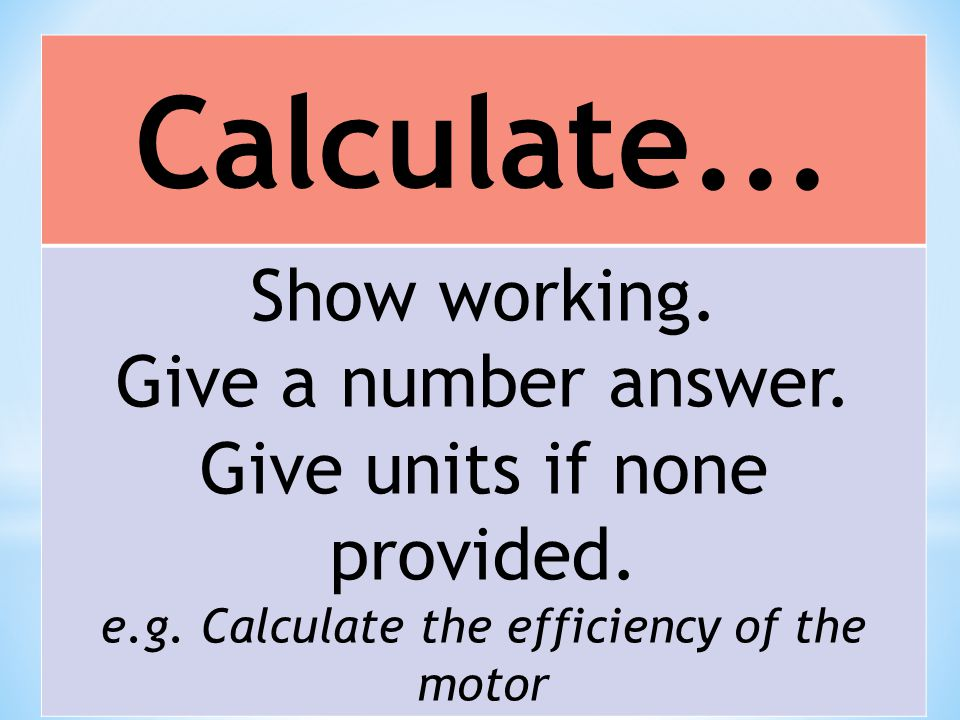 Calculate... Show working. Give a number answer.