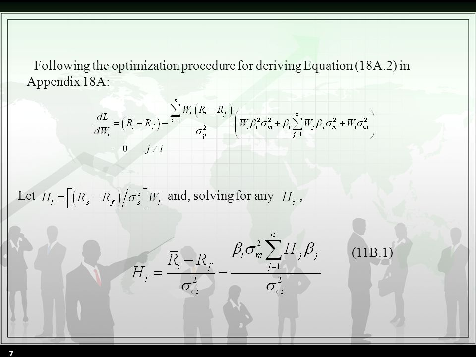 Following the optimization procedure for deriving Equation (18A.2) in Appendix 18A: Let and, solving for any, (11B.1) 7