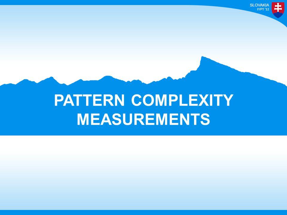 PATTERN COMPLEXITY MEASUREMENTS