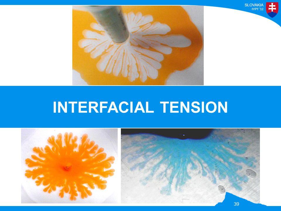 INTERFACIAL TENSION 39