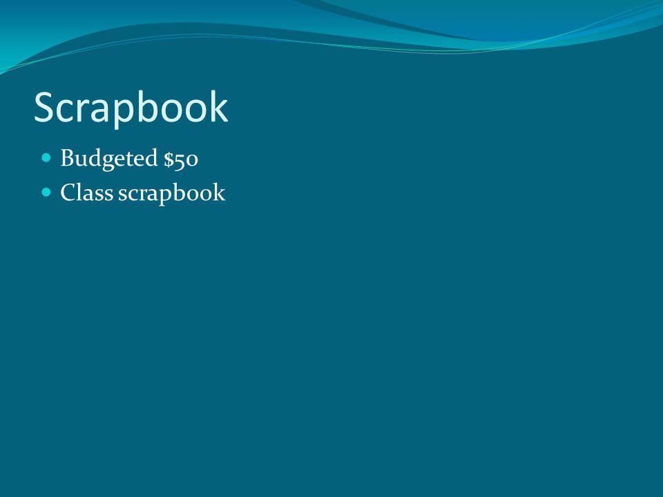 Scrapbook Budgeted $50 Class scrapbook