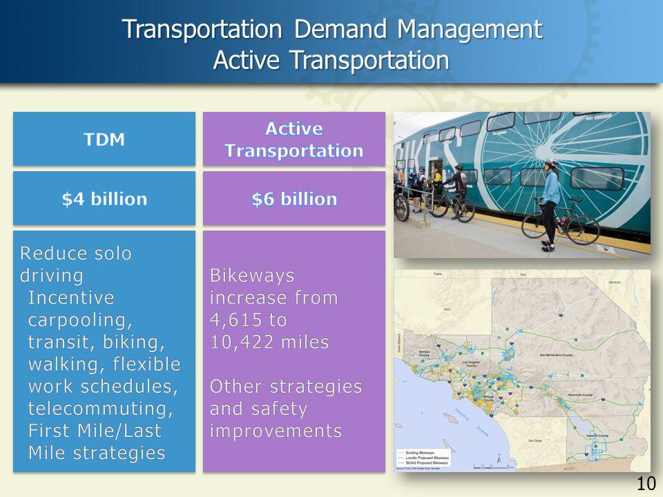 10 Transportation Demand Management Active Transportation 10