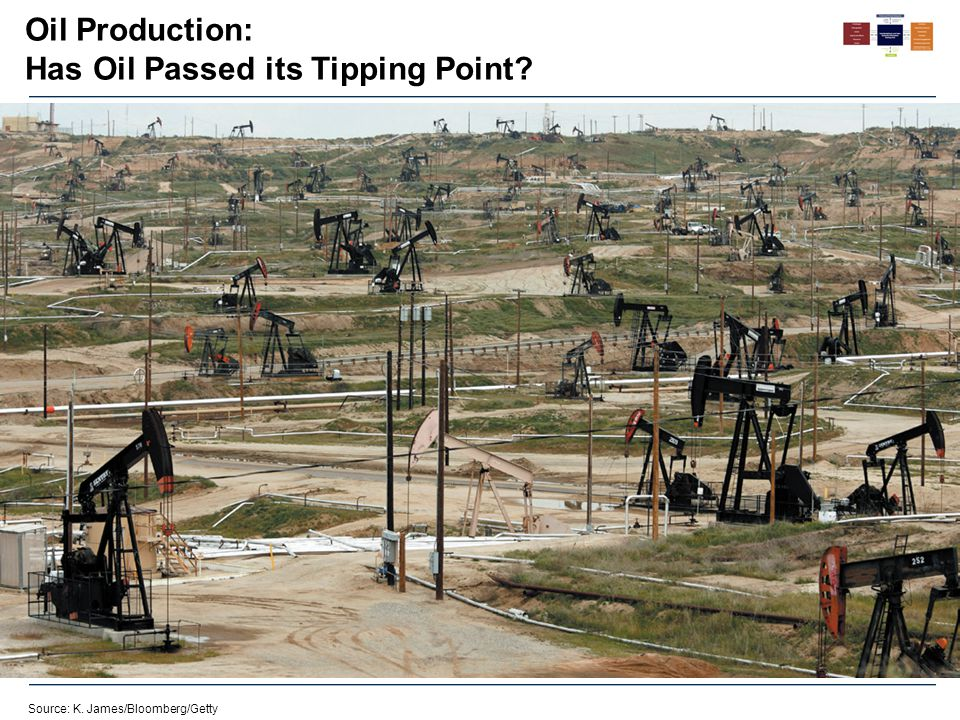 Oil Production: Has Oil Passed its Tipping Point? Source: K. James/Bloomberg/Getty