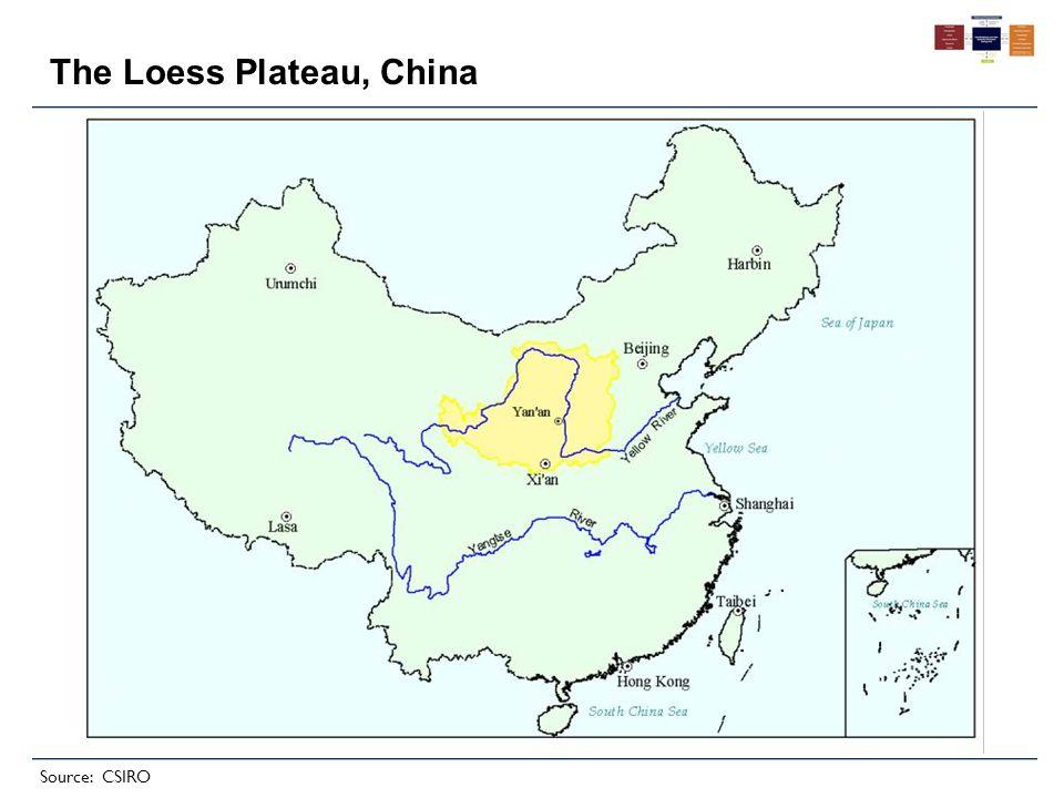 The Loess Plateau, China Source: CSIRO