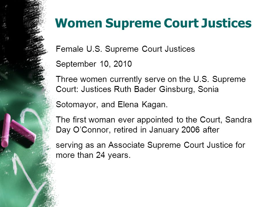 Women Supreme Court Justices Female U.S.