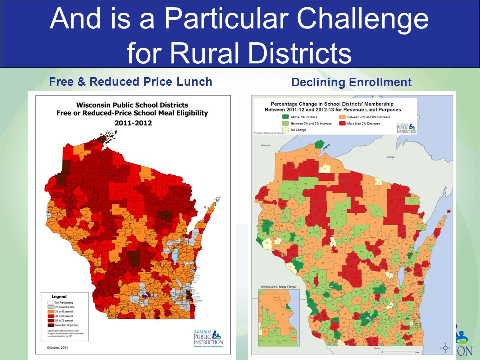 And is a Particular Challenge for Rural Districts Free & Reduced Price Lunch Declining Enrollment