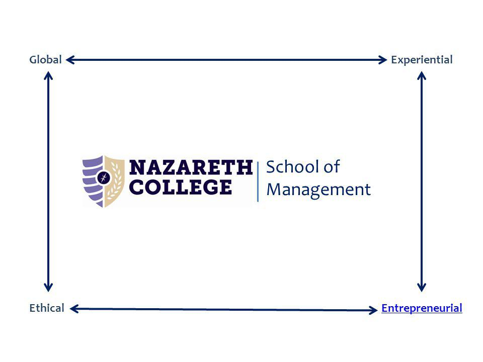 School of Management GlobalExperiential EntrepreneurialEthical