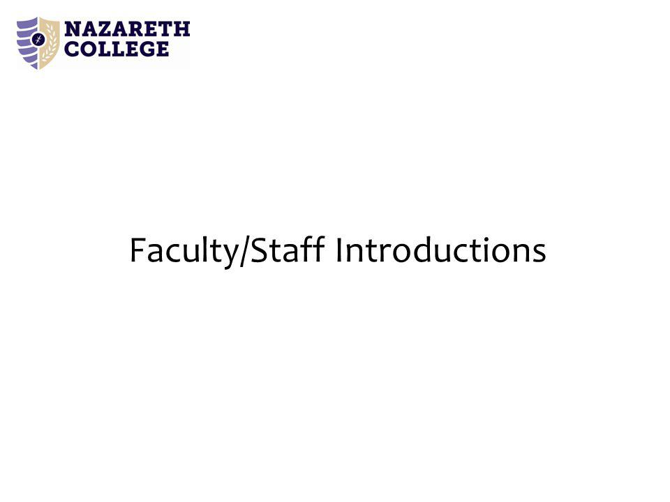 Faculty/Staff Introductions