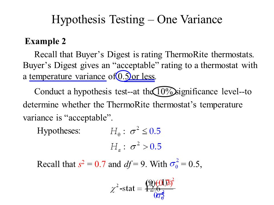 """Recall that Buyer's Digest is rating ThermoRite thermostats. Buyer's Digest gives an """"acceptable"""" rating to a thermostat with a temperature variance o"""