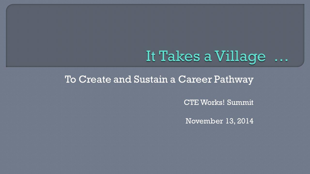 CTE Works! Summit November 13, 2014