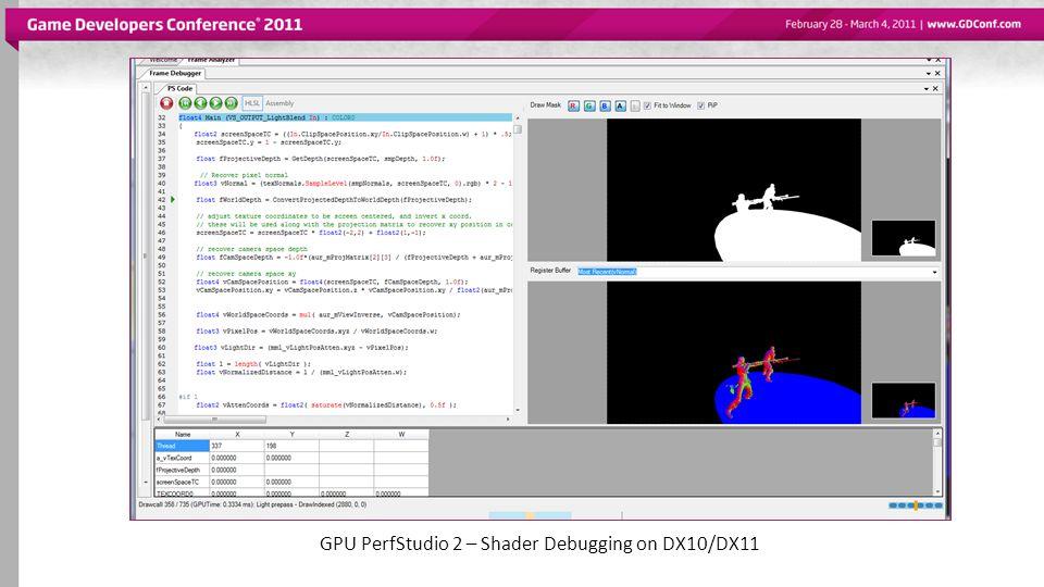 GPU PerfStudio 2 – Shader Debugging on DX10/DX11