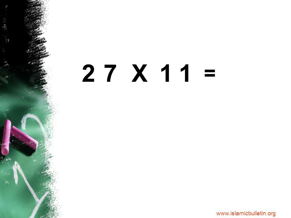 277 = 7X11 2 Step 1: Split up the number.