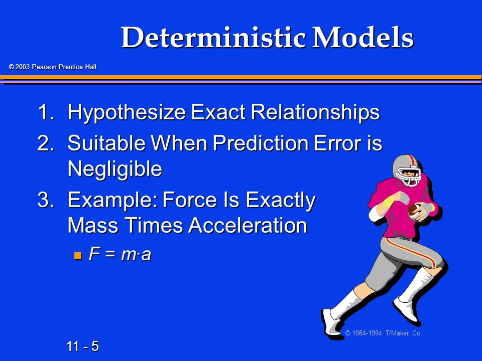 11 - 26 © 2003 Pearson Prentice Hall Types of Regression Models