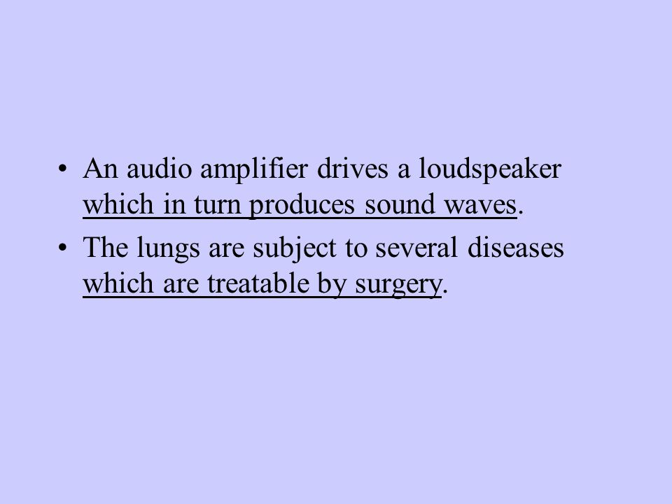 An audio amplifier drives a loudspeaker which in turn produces sound waves.