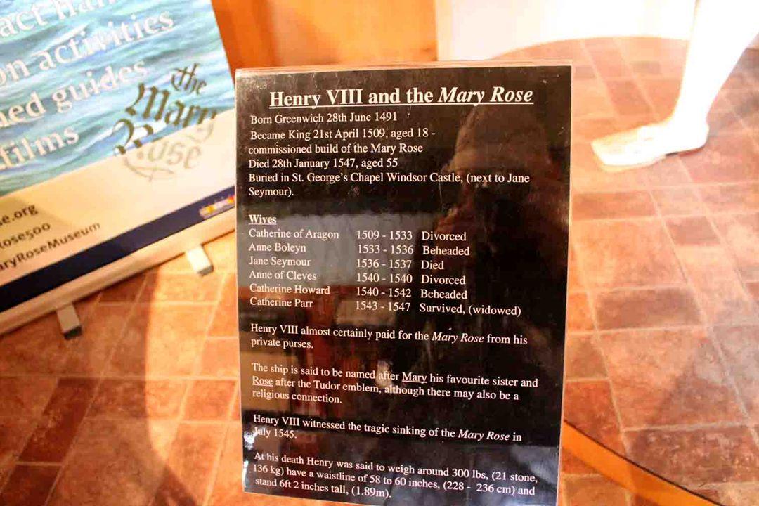 Schip MARY ROSE Werd gebouwd door koning Hendrik VIII in de jaren 1509-1511.