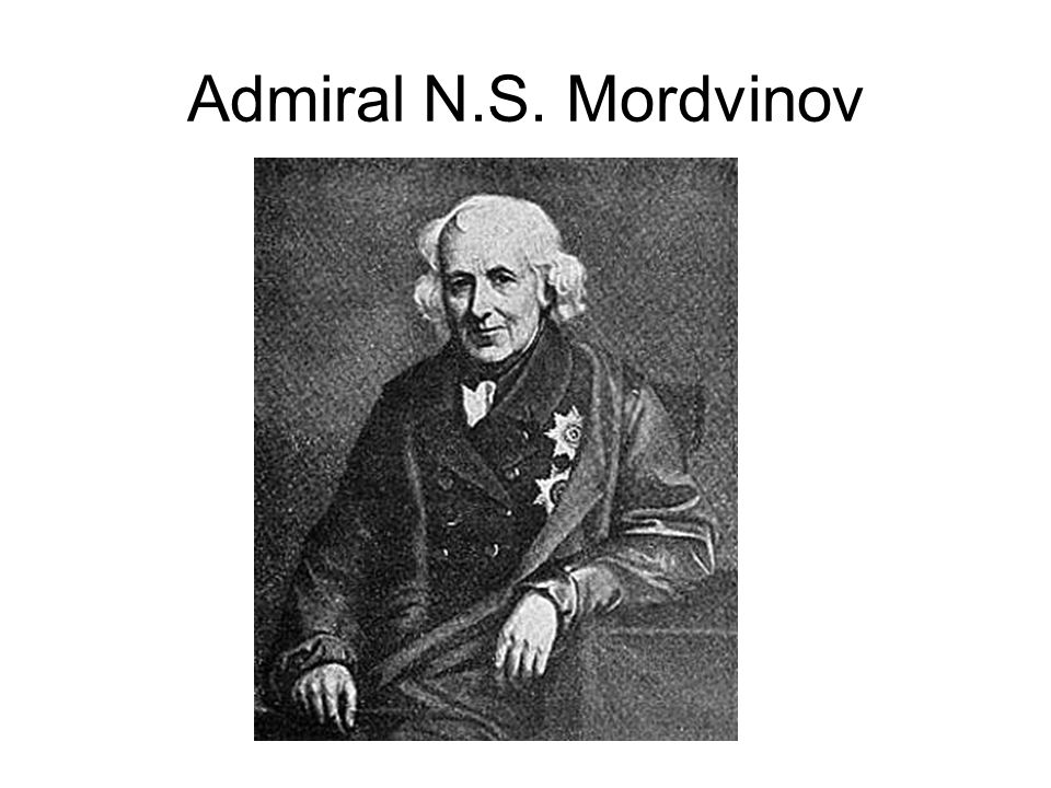 Admiral N.S. Mordvinov