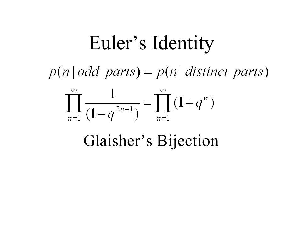 Euler's Identity Glaisher's Bijection