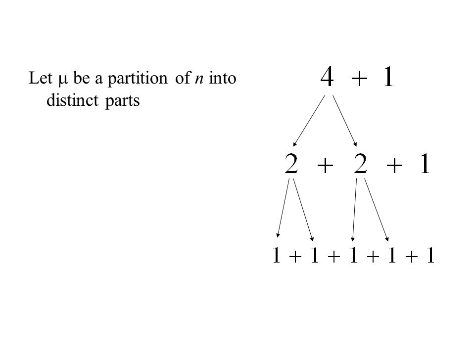 A Generalization Glaisher's Theorem: The same splitting/merging process can be used, except you merge d-tuples in one direction and split up multiples of d in the other.