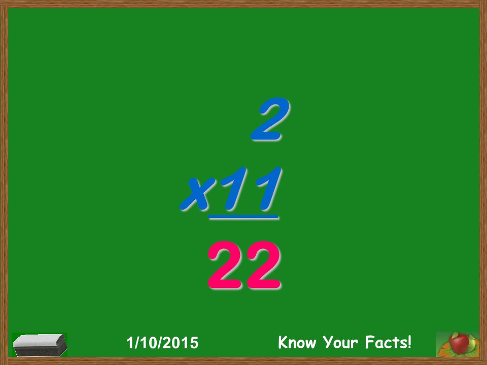 2 x11 22 1/10/2015 Know Your Facts!