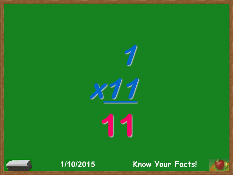 1 x11 11 1/10/2015 Know Your Facts!