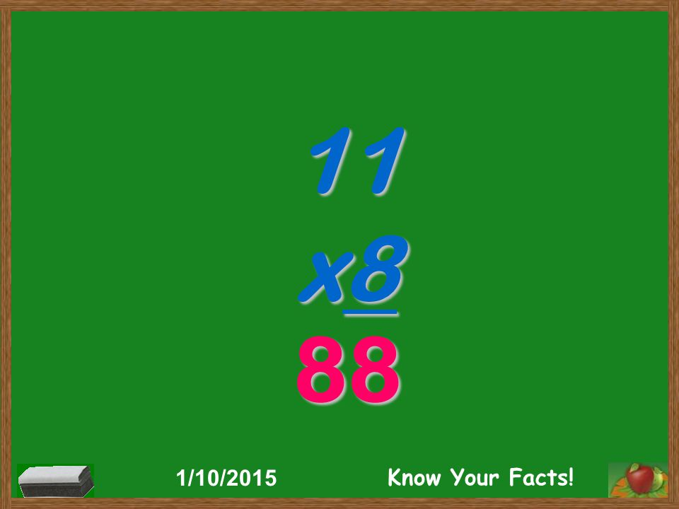 11 x8 88 1/10/2015 Know Your Facts!
