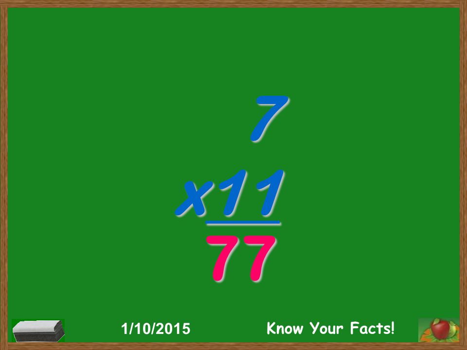 7 x11 77 1/10/2015 Know Your Facts!