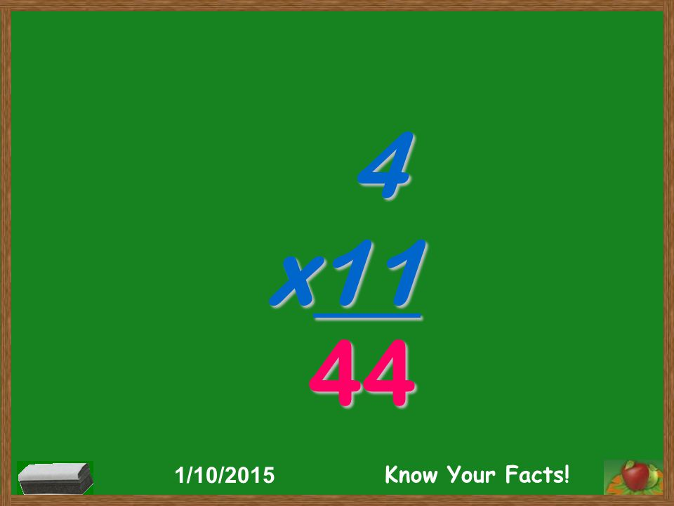 4 x11 44 1/10/2015 Know Your Facts!