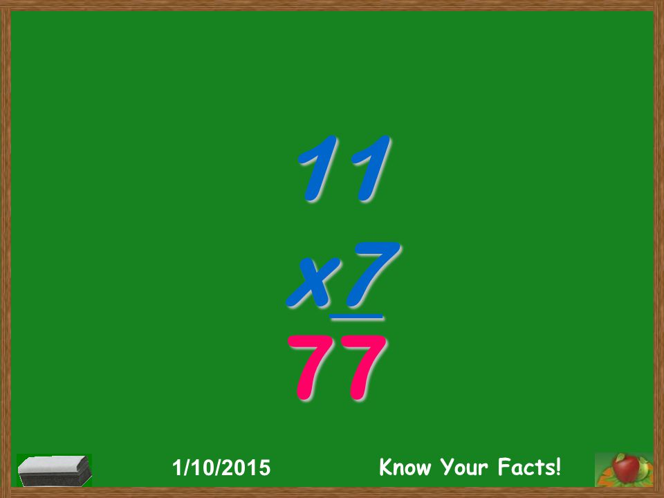 11 x7 77 1/10/2015 Know Your Facts!