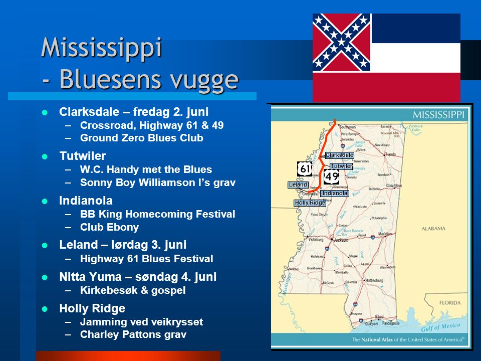 Mississippi - Bluesens vugge Clarksdale – fredag 2.