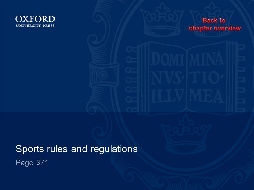 Sports rules and regulations Page 371