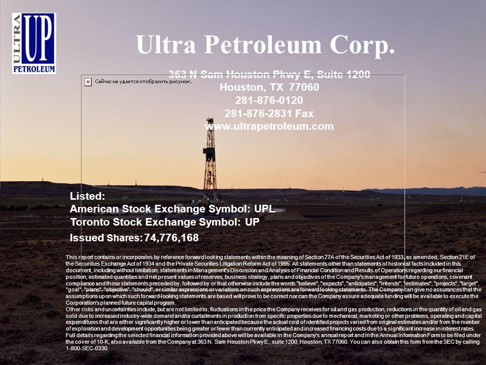 Ultra Petroleum Corp.